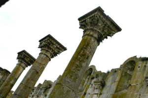 Colonnato della chiesa nuova mai compiuta di Venosa