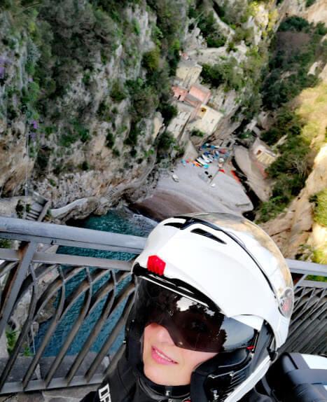 Veduta dal ponte del Fiordo di Furore sulla Costiera Amalfitana