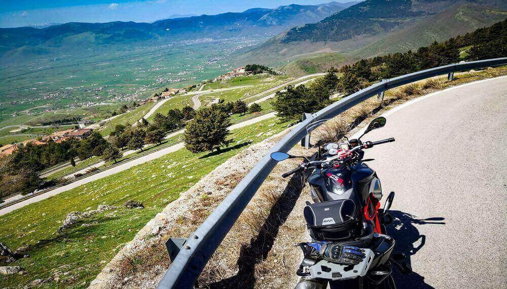 itinerario in moto sull'Appennino Lucano