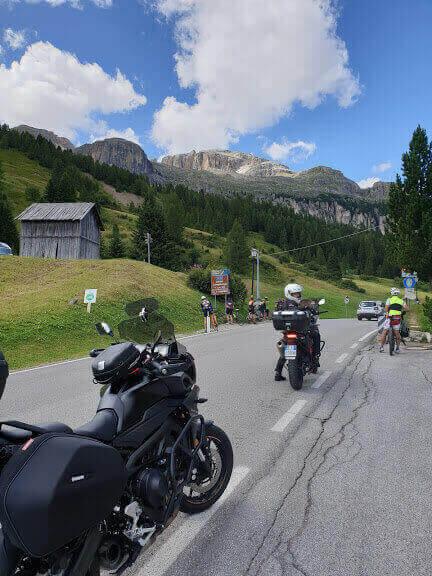 Anello del Sella itinerario in moto sulle dolomiti